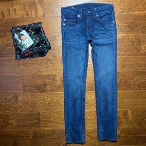 ひ True Religion ROCCO No Flap Slim Blue Wash Jeans